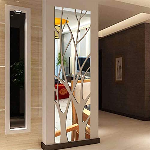 Buy Crazydeal Family Tree Wall Decor Abstract Wall Art 3d Diy Acrylic Decorative Mirror Wall Stickers For Living Room Bedroom Kitchen The Home Modern Decorations 60x16 Online In Panama B08mxmyd8f