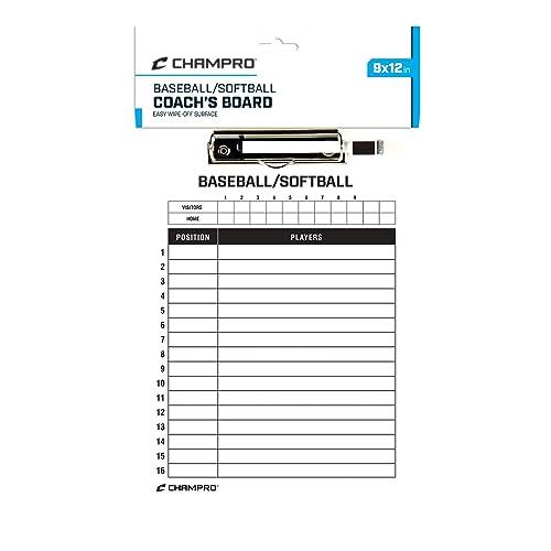 Champro Lacrosse Coachs Board White, 12 x 9-Inch